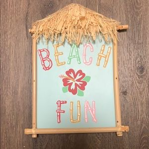 Beach themed wall decor